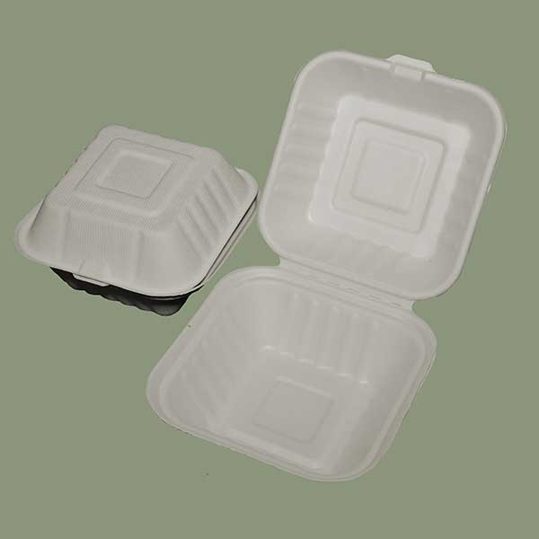 Burguer Box 6 inches x 6 inches x 3 inches 500ml ECOWARE Biodegradables