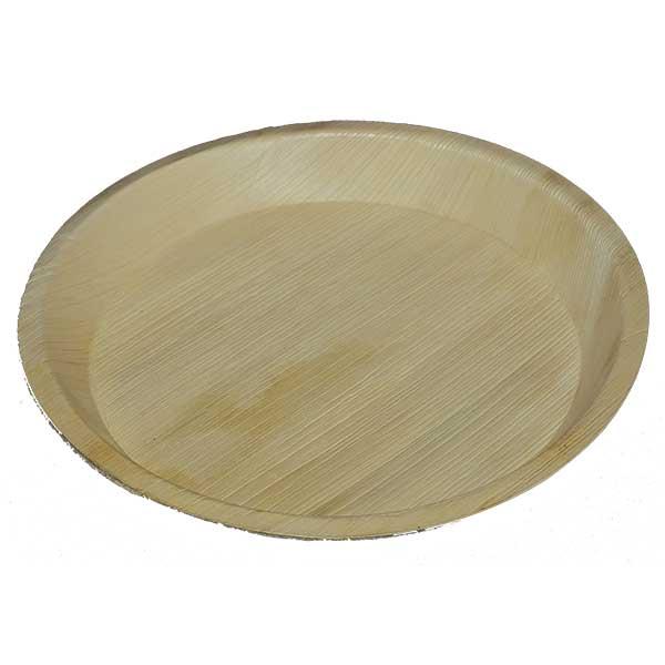 Dulari round plate areca 2 Biodegradables